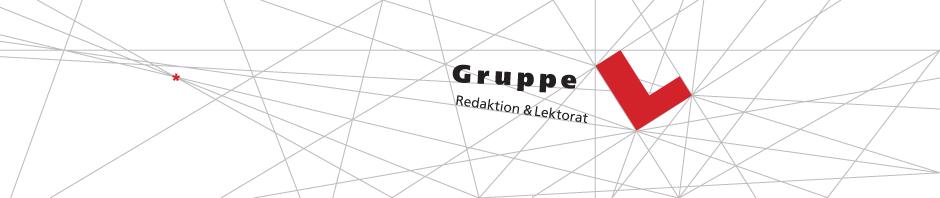 Logo Gruppe L - Redaktion und Lektorat